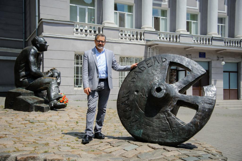 Andrei Malaiev-Babel, grandson of the writer. Photo by Boris Bukhman
